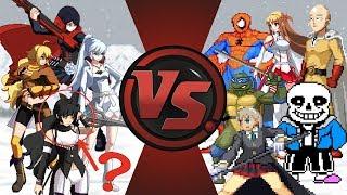 RWBY vs THE WORLD! (RWBY vs Undertale, One Punch Man, Spider-Man, Maka, & More!) RWBY Animation