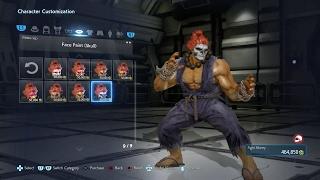 TEKKEN 7 (PS4) Player & Akuma Full Character Customization (1080p 60fps)