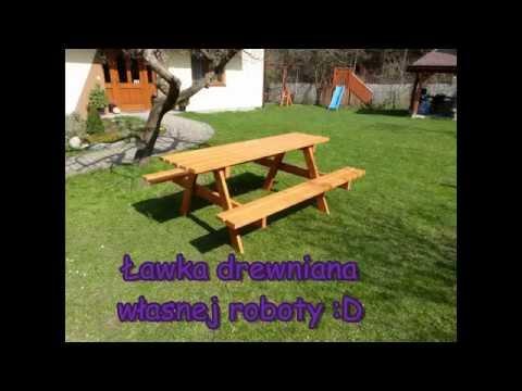 Ławka drewniana własnej roboty Jak zrobić ławkę stół ogrodowy