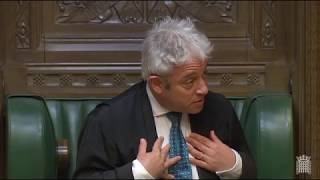 False allegations about my support for John Bercow