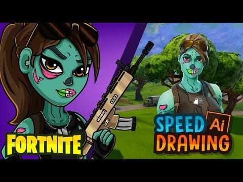 Xxx Mp4 Fortnite En Halloween Ghoul Trooper O Chica Zombie Speed Drawing 3gp Sex