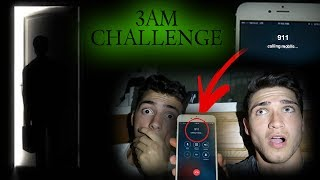 DO NOT CALL 911 AT 3AM CHALLENGE // CRAZY MAN BROKE IN MY HOUSE AT 3 AM