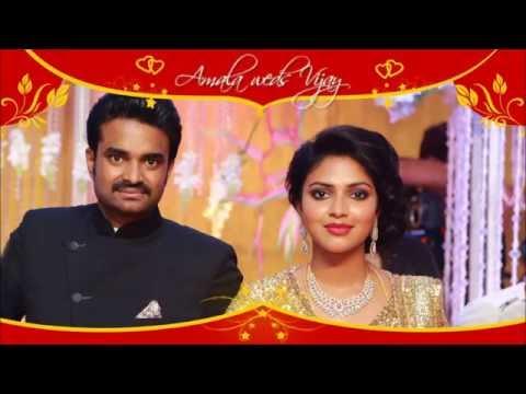 Tamil Actress Amala Paul & Director Vijay  Wedding  Album