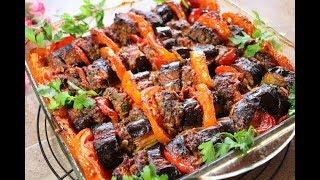 تبسي الباذنجان بالكفتة وجبة سهلة وسريعة ولذيذة مع رباح محمد ( الحلقة 447 )
