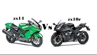 2017 Kawasaki ZX14  VS  2016 Kawasaki  ZX10R winter edition review !!