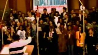 We Are The World - Michael Jackson Lionel Richie Cindy Lauper Steve Wonder Bruce Springsteen....mp4