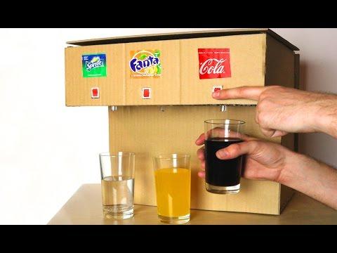КАК СДЕЛАТЬ АВТОМАТ ИЗ КАРТОНА ДЛЯ ТРЁХ РАЗНЫХ НАПИТКОВ  - Coca Cola, Fanta, Sprite Machine