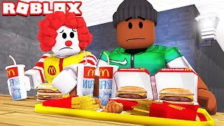 ESCAPING MCDONALDS IN ROBLOX!!