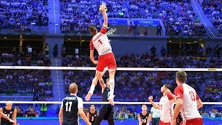 TOP 40 MONSTER Volleyball 3rd Meter Spikes   Mens World Championship 2018