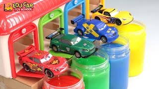 Learning Color with Special Disney Pixar Cars Lightning McQueen Mack Truck Slime for kids car toys