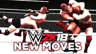 WWE 2K18 - Every NEW Move Animation Added (WWE 2K18 Moves List)