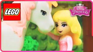 ♥ LEGO Disney Princess Aurora SAVING PONY SPARKLE from Maleficent & Minions STOP MOTION