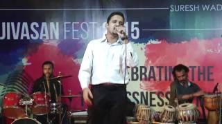 Alhad Palekar performing at Ajivasan Fest, 2015