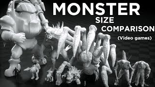 Monsters Size Comparison (Video games)