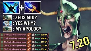 OMG New Imba Yasha and Kaya Undying Mid vs Zeus Crazy Fun Game by Babyknight 7.20 Dota 2