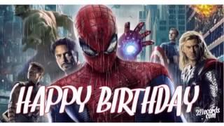 Avengers Happy Birthday   HAPPY BIRTHDAY VIDEO