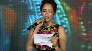 Manchu Lakshmi Sings 'Yandiroo' Song at Dongata Audio Launch