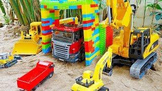 블럭 주차장 중장비 자동차 장난감 변신놀이 Car Toy Magic Block Parking
