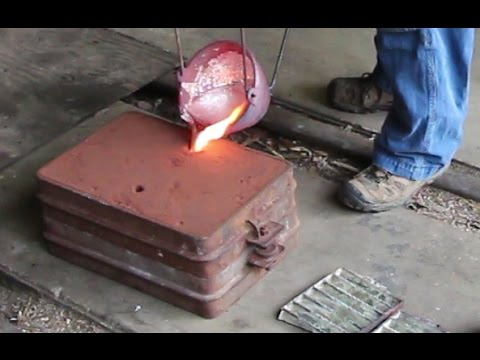 Making an Aluminum Way Cover Part 1 Casting the Part in my Backyard Foundry