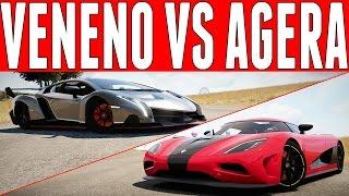 Forza Horizon 2 Versus : Lamborghini Veneno vs Koenigsegg Agera