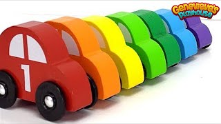 Best Learning Video for Kids: Learn Colors Sorting Car Preschool Toys! Genevieve Joins the Fun Play!