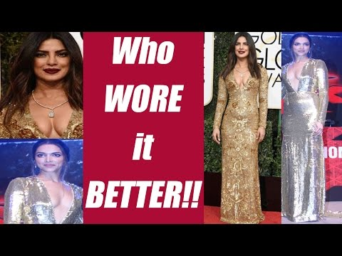 Xxx Mp4 Deepika Padukone Vs Priyanka Chopra's Golden Dress Who Wore It Better FilmiBeat 3gp Sex