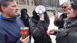 ANTIFA attacks man with Coffee at Free Speech Rally