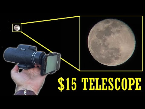 40X Phone telescope is hard to believe Sample pictures and footage