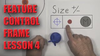 GD&T Feature Control Frame Lesson 4 - NO MATH