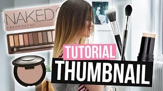 How To Make Thumbnails for YouTube Beauty Channels! (EASY)