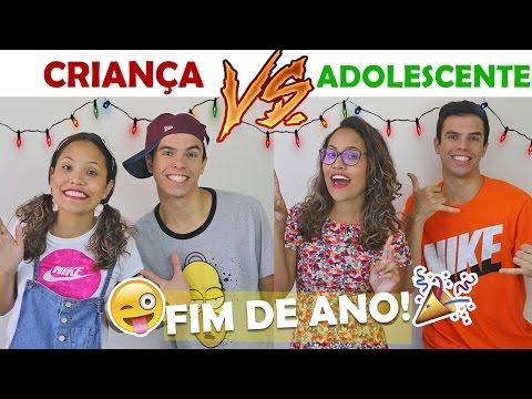 CRIANÇA VS ADOLESCENTE NO FIM DE ANO KIDS FUN