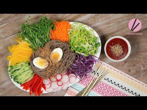 Xxx Mp4 Asian At Home Korean Cold Noodles On A Tray Jaengban Makguksu 3gp Sex