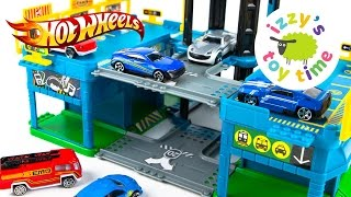Cars for Kids | Hot Wheels Toys and Fast Lane City Center Playset - Fun Toy Cars for Kids