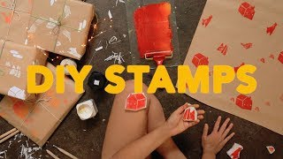 DIY WRAPPING PAPER II ~ LET'S MAKE RUBBER STAMPS!