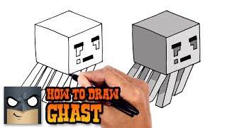 How to Draw Ghast   Minecraft