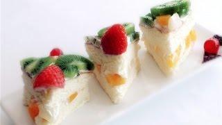 How To Make Birthday Fruit Cake | Mixed Fruit Cream Cake 鮮忌廉雜果蛋糕