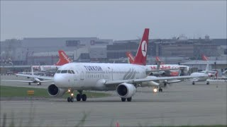 Turkish Airlines A320 take-off at Geneva Airport - 30/11/2014