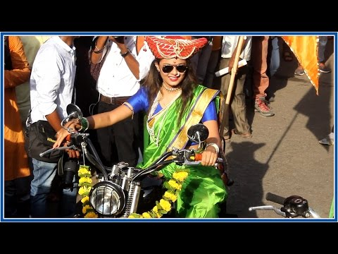 Womens Bike Rally at Gudi Padwa Shobha Yatra 2017
