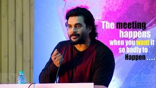 R. Madhavan's inspiring speech 2016