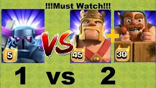 Pekka Queen vs Barbarian king and Battle Machine 🔥🔥🔥 Clash Of Clans   Private Server