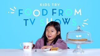 Kids Try Food From Classic TV Shows (Spongebob, Friends)   Kids Try   HiHo