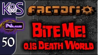 Factorio 0.15 Bite Me! Ep 50: NEW STATION - Death World COOP MP Gameplay, Let's Play