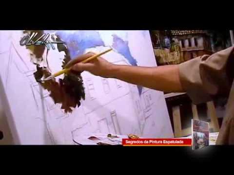 video aula passo a passo segredos da pintura espatulada Cido Oliveira