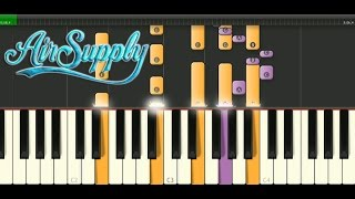Making Love Out Of Nothing At All - Air Supply Easy Piano Tutorial And MIdi Download