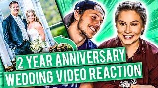 WEDDING VIDEO REACTION! 2 YEAR ANNIVERSARY   Shawn Johnson