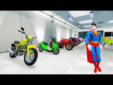 Xxx Mp4 BELAJAR WARNA Untuk Anak Anak Dengan SUPERMAN MOTORBIKES Garasi 11x Warna Untuk Bayi 3gp Sex
