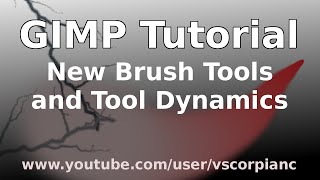GIMP Tutorial - Beginners, How-to Use New Brush Tools & Dynamics