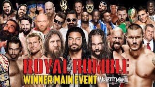 WWE Royal Rumble 2015 - Royal Rumble Match - WWE 2K15