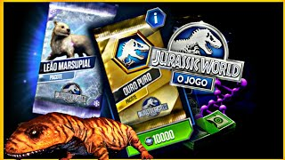 Pack Leão Marsupial Novo Cenozoico & 2 Packs Vip! JURASSIC WORLD O JOGO