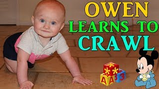 Crawling at Only 7 Months Old by Chasing a Laser Pointer!